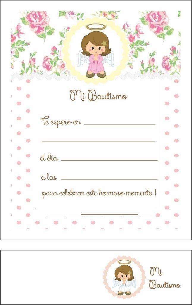 Invitaciones Con Souvenir Bautismo