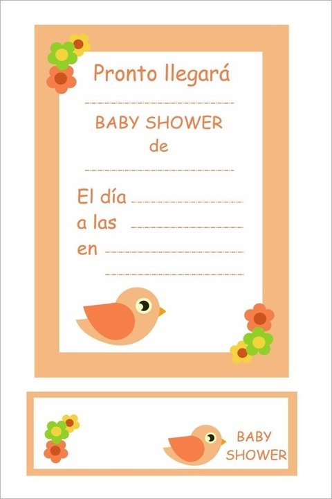 Invitaciones con souvenir - Baby Shower en internet