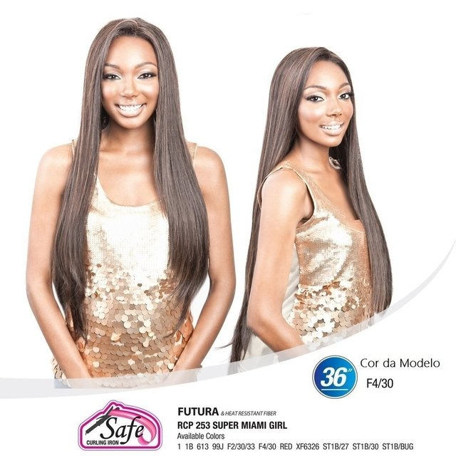 ENCOMENDA! Isis Red Carpet Synthetic Hair Lace Front Wig - SUPER MIAMI GIRL - Divas Wig