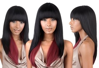 ENCOMENDA! Isis Brown Sugar Human Hair Blend Full Wig - BS103
