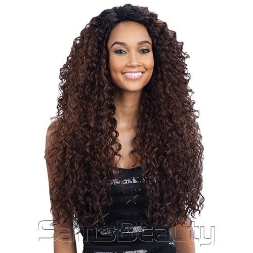 PRONTA ENTREGA - Freetress Equal Synthetic L Part Lace Front Wig - KITRON - cor 1B (preto)