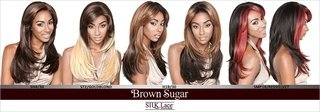 ENCOMENDA! Isis Brown Sugar Human Hair Blend Silk Lace Wig - BS603 (4X4 Full Lace Front) na internet