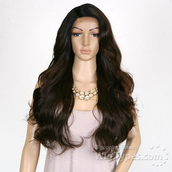 ENCOMENDA! Freetress Equal Deep Invisible L Part Lace Wig Karissa na internet