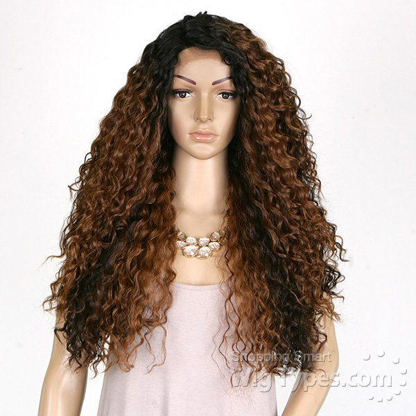 ENCOMENDA! Freetress Equal Synthetic Hair Lace Deep Invisible L Part Lace Front Wig - KITRON - Divas Wig