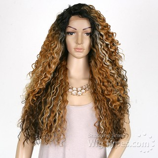ENCOMENDA! Freetress Equal Synthetic Hair Lace Deep Invisible L Part Lace Front Wig - KITRON - loja online