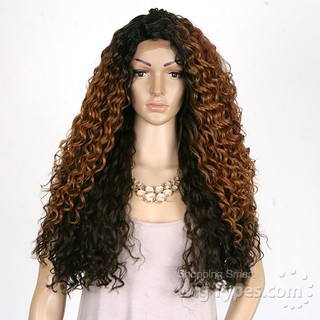 ENCOMENDA! Freetress Equal Synthetic Hair Lace Deep Invisible L Part Lace Front Wig - KITRON