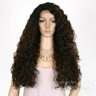 ENCOMENDA! Freetress Equal Synthetic Hair Lace Deep Invisible L Part Lace Front Wig - KITRON na internet
