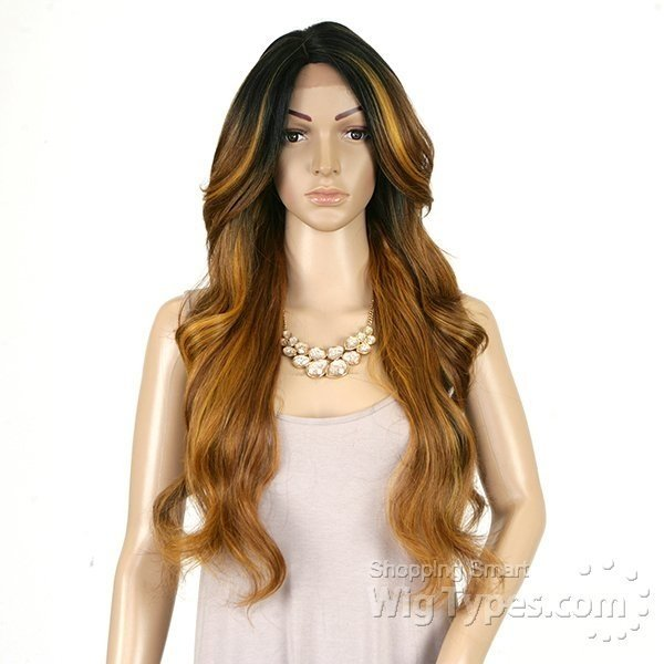 ENCOMENDA! Freetress Equal Lace Front Wig Deep Invisible Part - MIZZY - Divas Wig