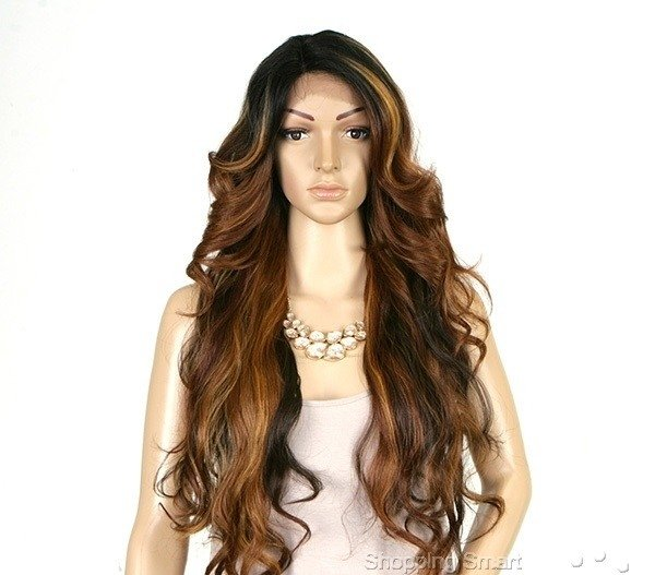 ENCOMENDA! FRONT WIG DEEP INVISIBLE PART TANZIE