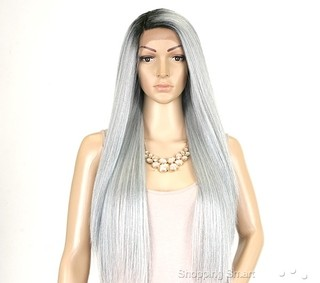 Imagem do ENCOMENDA! Janet Collection Natural Super Flow Deep Part Lace Wig - DAVISA