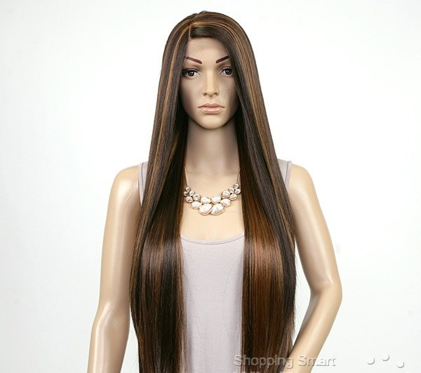 ENCOMENDA! Janet Collection Natural Super Flow Deep Part Lace Wig - DAVISA