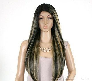 ENCOMENDA! Outre Synthetic L-Part Lace Front Wig - Natural YAKI 24