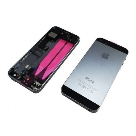Carcasa tapa bateria iphone 5S Completa Gris Original Centro!