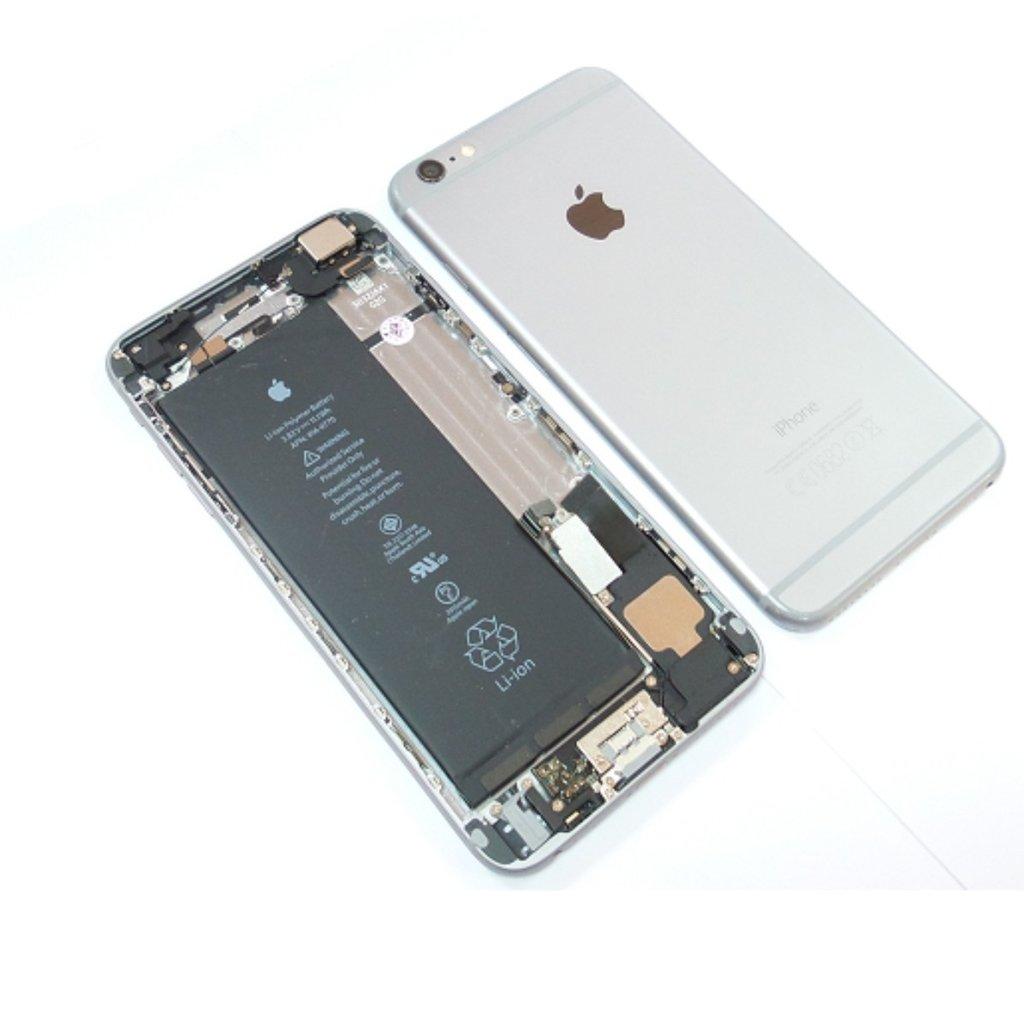 Carcasa tapa bateria iphone 6 Plus Completa Gris Original Centro!