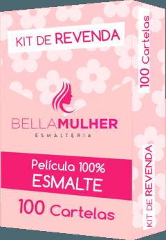 Kit Revenda 100 Cartelas Adesivos de Unhas - Modelos Variados (sem opção de escolha)