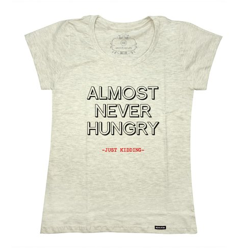 Camiseta Almost never hungry - loja online