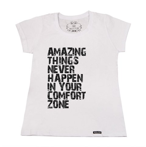 Camiseta Amazing things na internet