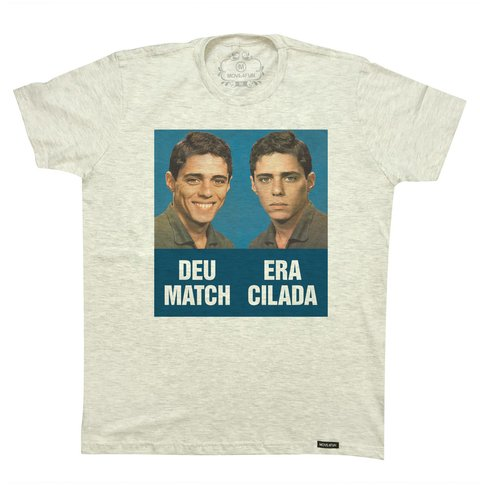 Camiseta Deu match era cilada na internet