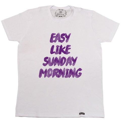 Camiseta Easy like sunday morning na internet