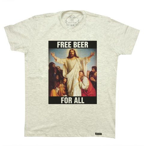 Camiseta Free beer for all - comprar online