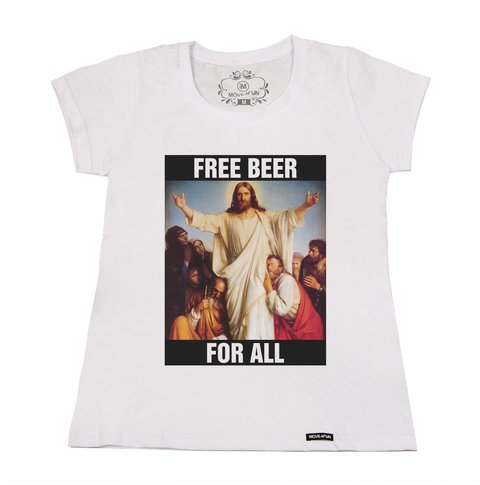 Camiseta Free beer for all - loja online