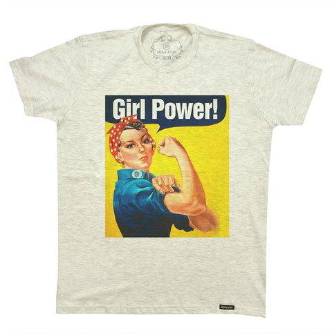 Camiseta Girl power na internet