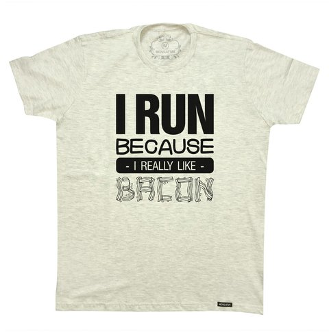 Camiseta I run - Bacon - comprar online