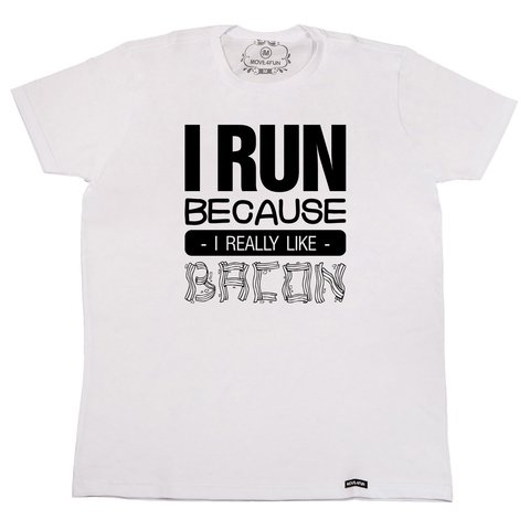 Camiseta I run - Bacon na internet