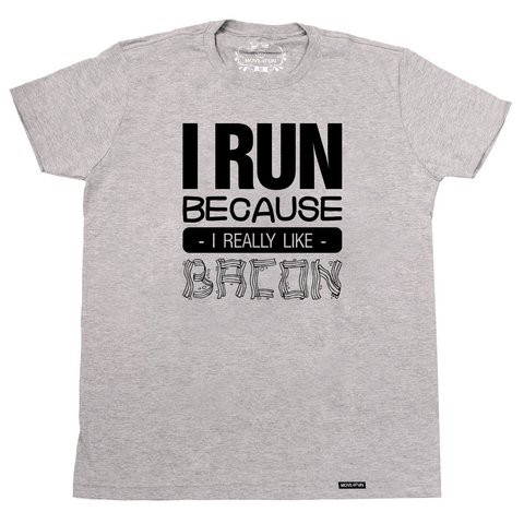 Camiseta I run - Bacon