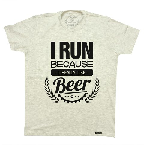 Camiseta I run - Beer na internet