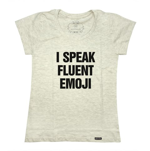 Camiseta I speak fluent emoji - loja online