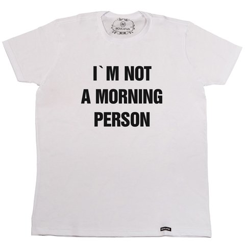 Camiseta I'm not a morning person na internet