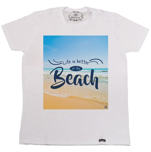 Camiseta Life is better at the beach