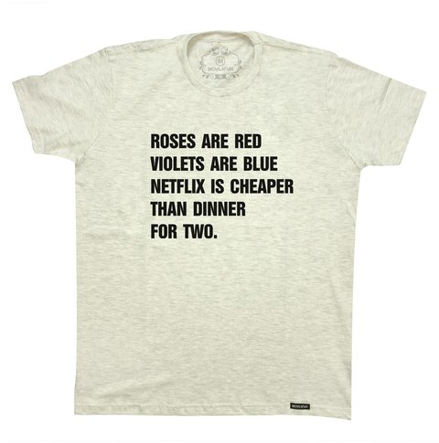 Camiseta Roses are red - comprar online