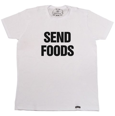 Camiseta Send foods na internet