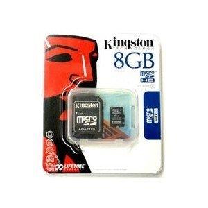 MEMORIA KINGSTON O SAMSUNG  MICRO SD 8GB + ADAPTADOR