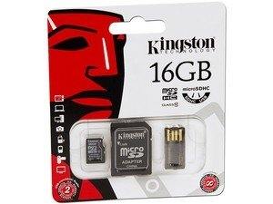 MEMORIA KINGSTON MICRO SD 16GB + ADAPTADOR CLASE 10