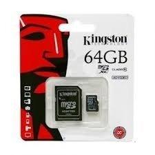MEMORIA KINGSTON MICRO SD 64 GB + ADAPTADOR