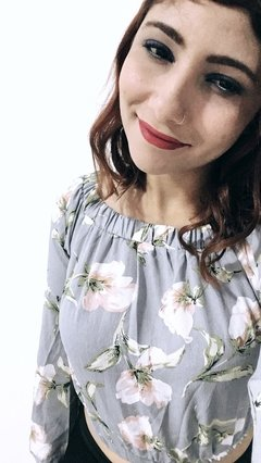 Camisa Floral Manga Longa
