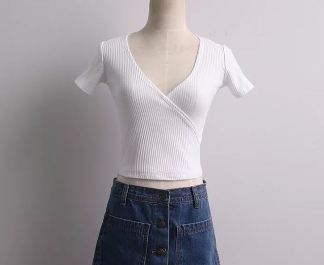 Top Cropped com Manga - Store Cherry