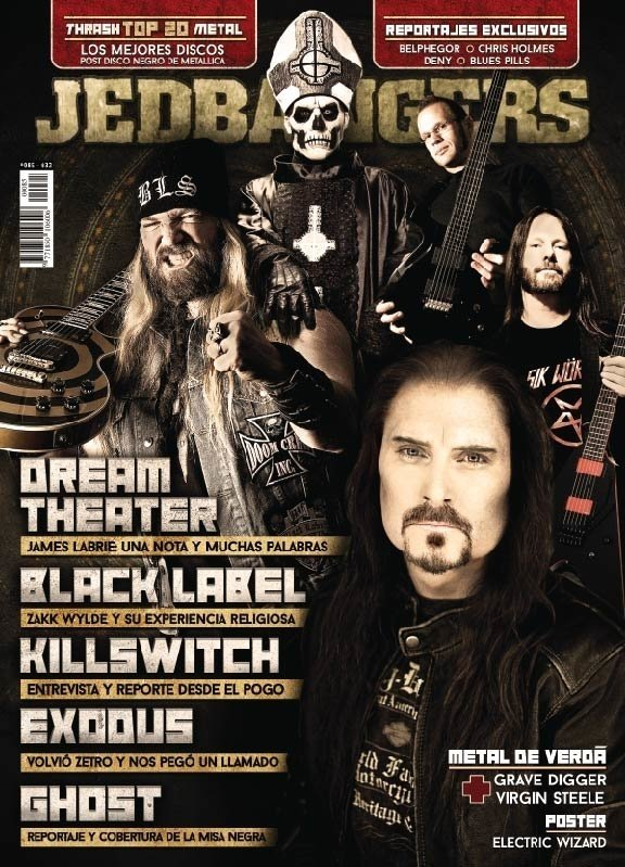 Jedbangers #085 Tapa Dream Theater Exodus Ghost Black Label KsE - comprar online