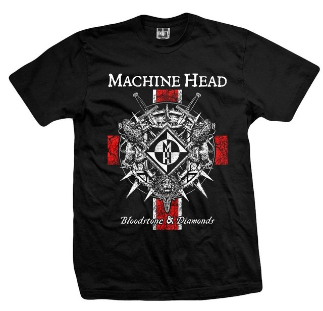 REMERA MACHINE HEAD - Bloodstone & Diamonds