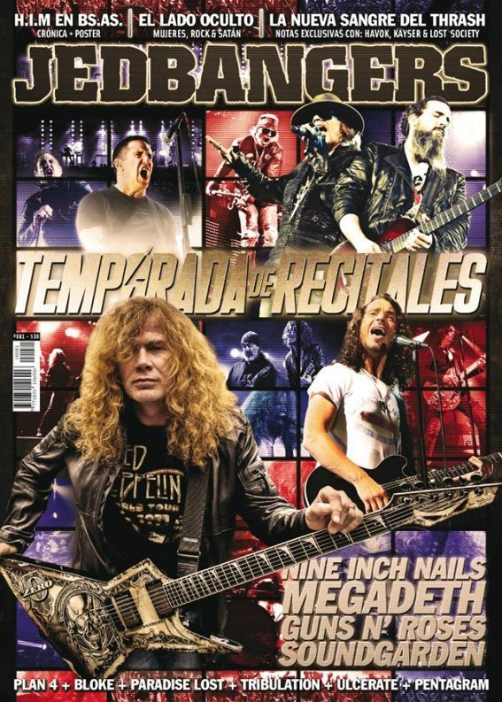 Jedbangers #081 Megadeth Guns N Roses Soundgarden Havok Nine Inch Nails Occult Rock Lost Society