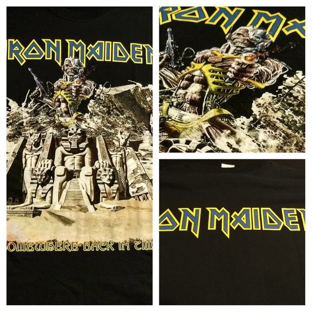 Remera Iron Maiden - Somewhere back in time