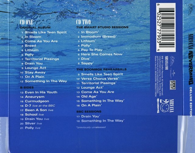 NIRVANA - Nevermind (20º Anniversary Deluxe Edition) - comprar online
