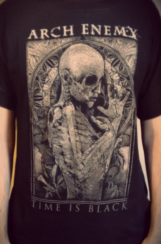 Remera ARCH ENEMY - Time is Black - comprar online