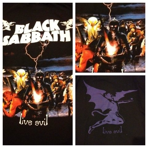 Remera Black Sabbath - Live Evil