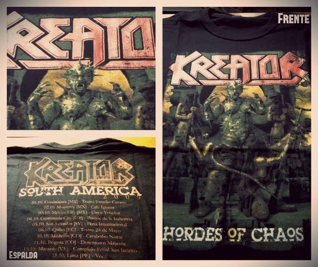 Remera Kreator - Horder of Chaos Tour 2009