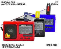 Parlante Bluetooth Radio AM/FM 1525