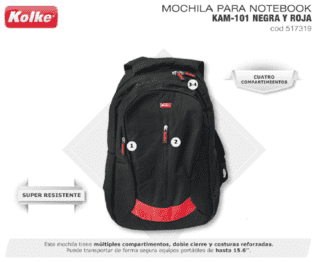 Mochila portanotebook super resistente
